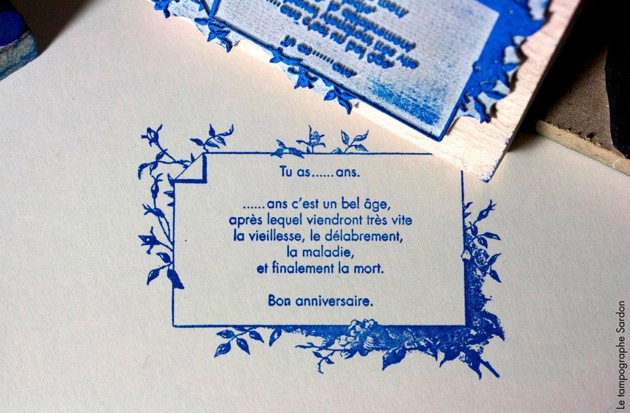 Image of Anniversaire - Birthday