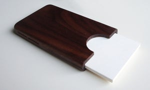 Image of Walnut business card holder