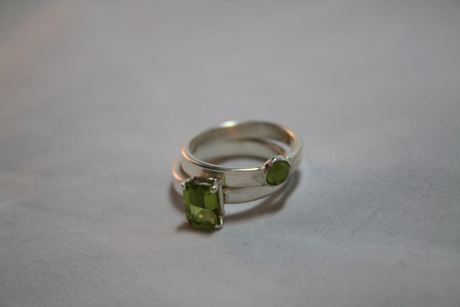Image of Sterling Silver Peridot Ring