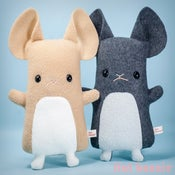"""Image of Flat Dusty the Chinchilla stuffed animal - more colors available - Classic 11"""" tall handmade"""