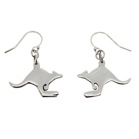 Image of Kangaroo Sterling Silver Earrings