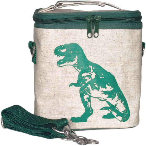 Image of So Young Small Cooler Bag - Green Dinosaur