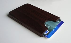Image of Walnut/Cherry credit/bank card holder