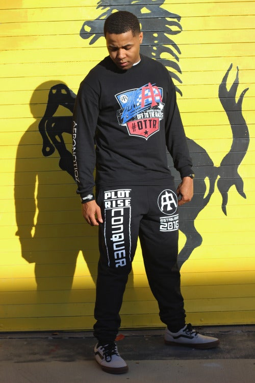 """Image of Black """"Off To The Races"""" Long Sleeve Tee!"""
