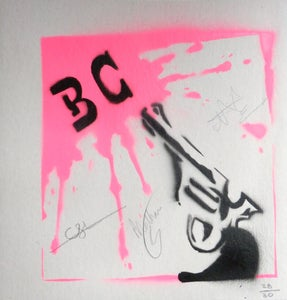 "Image of Limited Edition Hand Sprayed 7"" Vinyl Sleeve (SIGNED)"