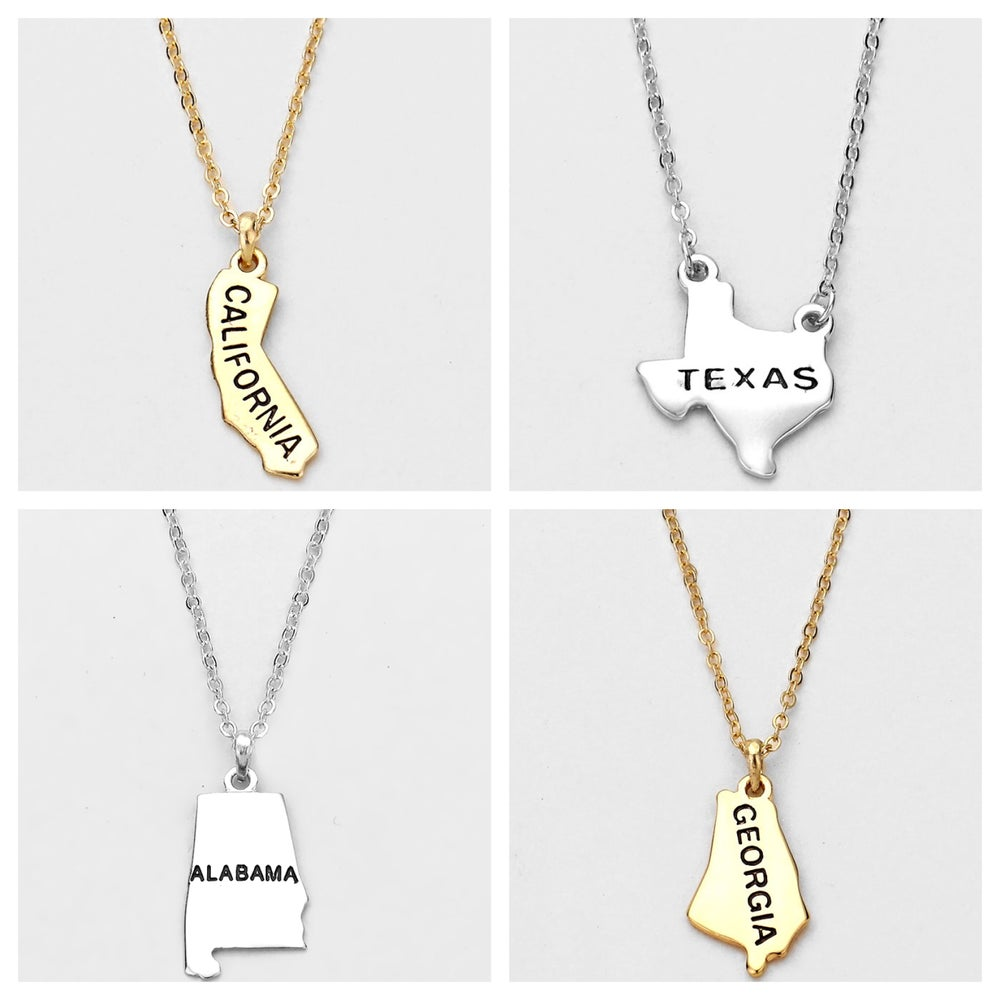 Image of State Charm Necklaces