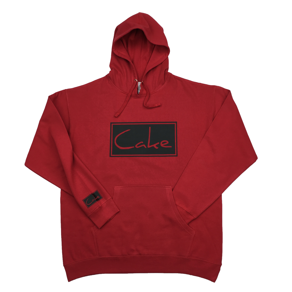 Image of Cake Pullover Hooded Sweatshirt Red/Black