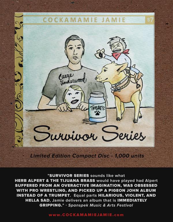 "Image of Cockamamie Jamie ""Survivor Series"" // Limited Edition Compact Disc"