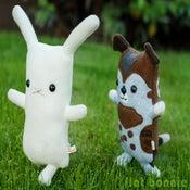 "Image of Flat Bonnie the Bunny plush stuffed animal - Original White (Classic 12"") Handmade"