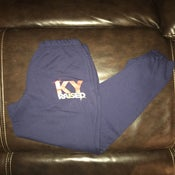 Image of KY Raised Navy / Red / Gold Closed Bottom Sweatpants