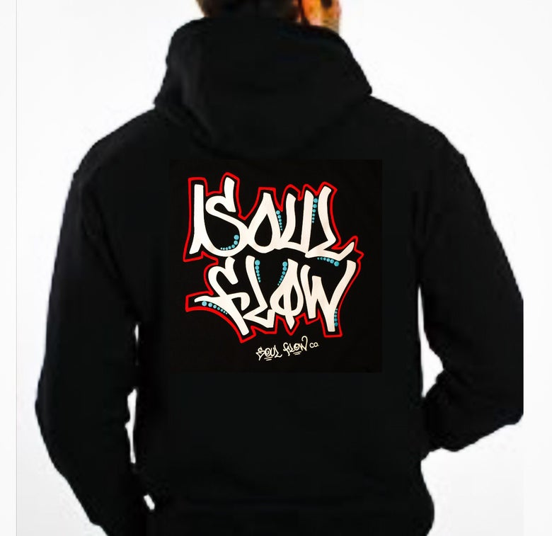 Image of Soul Flow Action Hoodie / Black