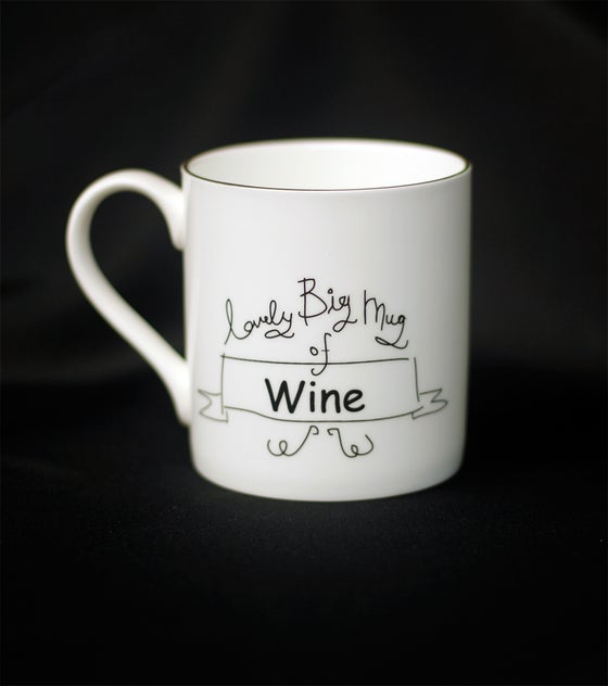 Image of LOVELY BIG MUG OF WINE