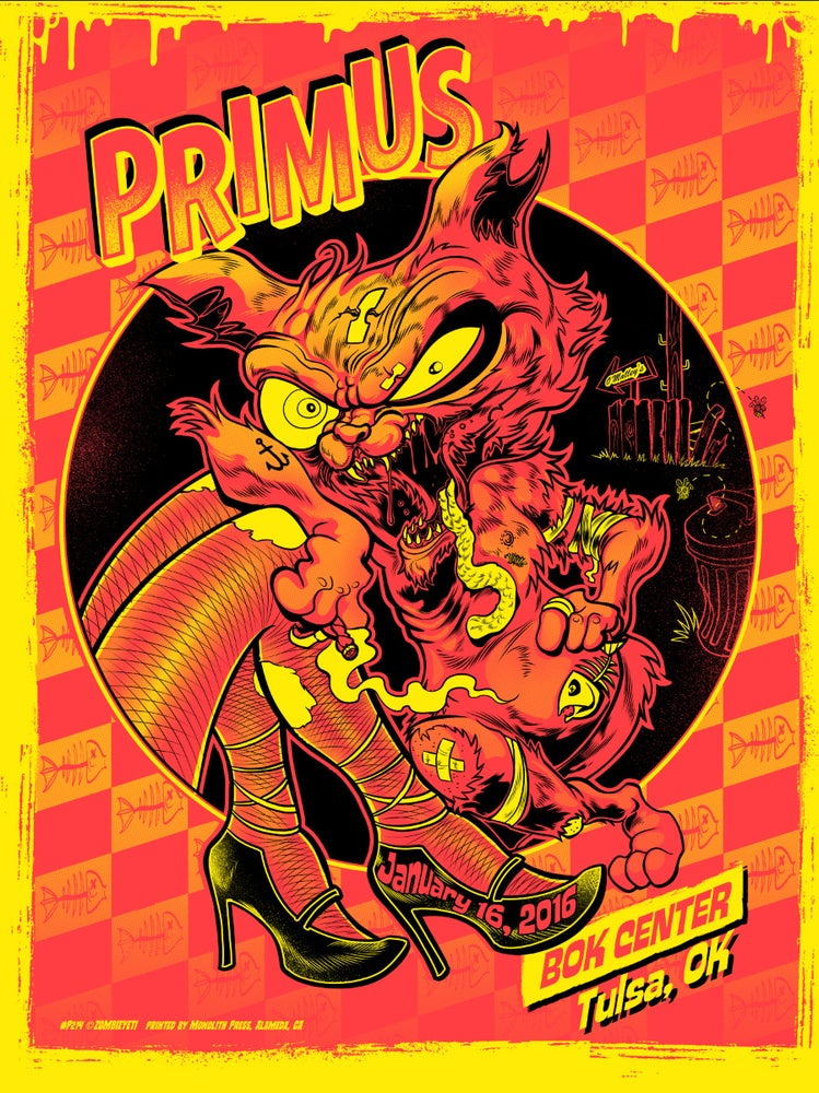 Image of Primus Tulsa, OK Tommy the Cat Print