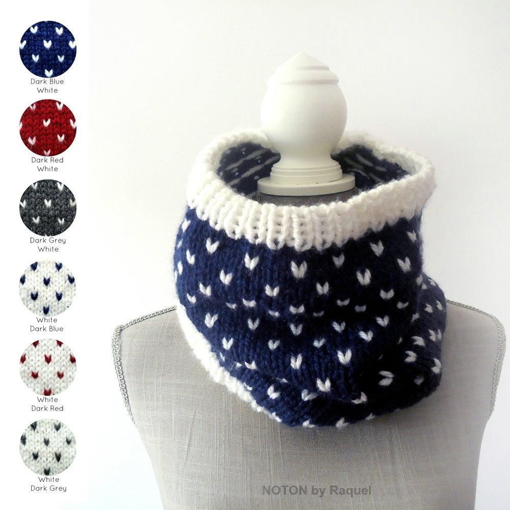 Image of Polka-dots Knit Scarf