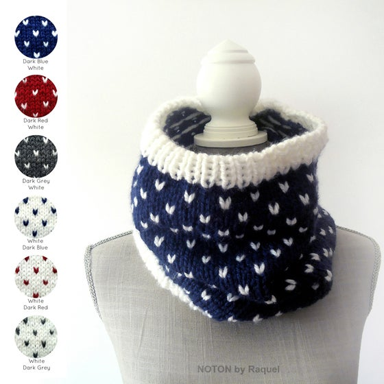 Image of Polka-dots Knit Scarf