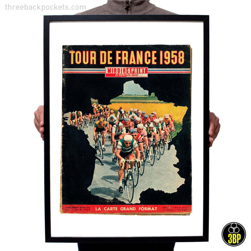 Image of Large Miroir Sprint Tour de France 1958 Cover Print