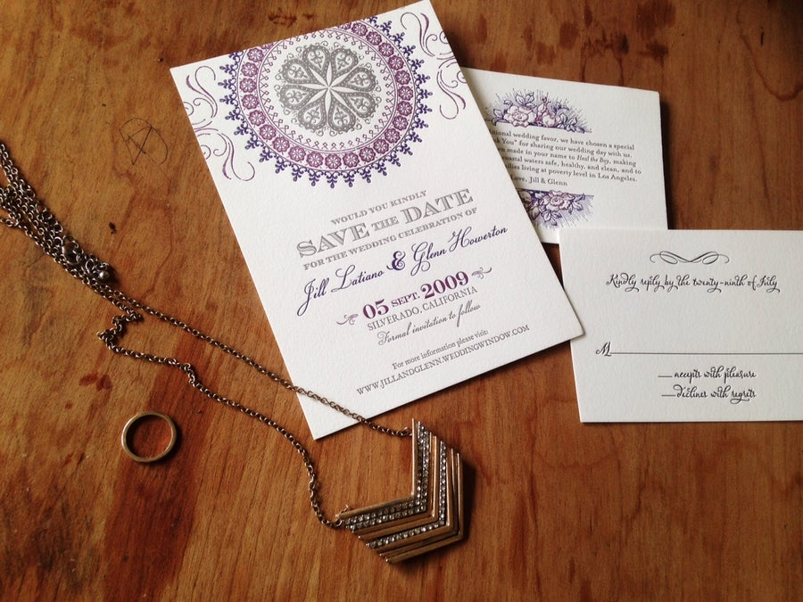 Image of Save the Date (Jill wedding suite)