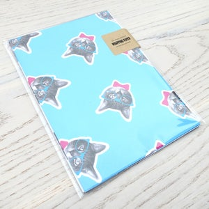 Image of gee whiskers series: birthday wrapping paper