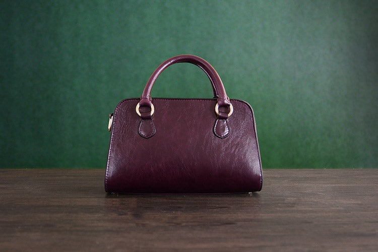 Image of Custom Handmade Vegetable Tanned Italian Leather Women Handbag Tote Bag Lady Bag D045