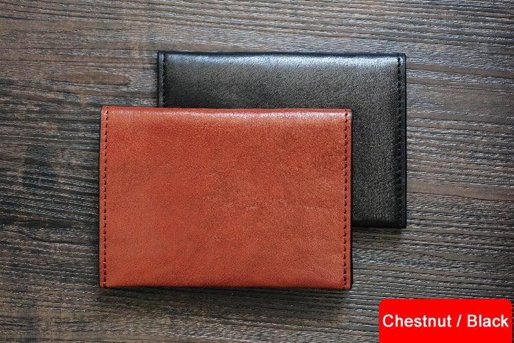 Image of Custom Handmade Vegetable Tanned Italian Leather Passport Holder Wallet Clutch D050