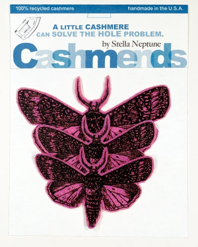 Image of Iron-on Cashmere Moths - Dark Pink