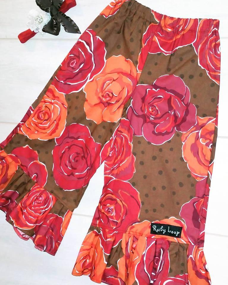 Image of Chocolate Bloom Valentine bloomers