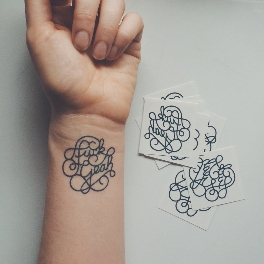 "Image of 2"" Temporary Fuck Yeah Tattoo (10)"