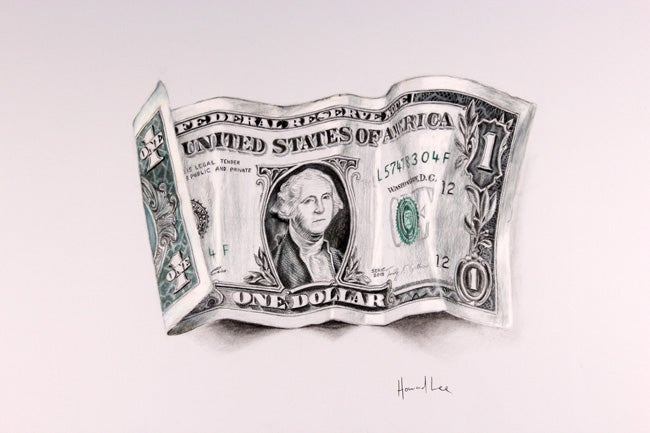 Image of One Dollar Bill Signed Print