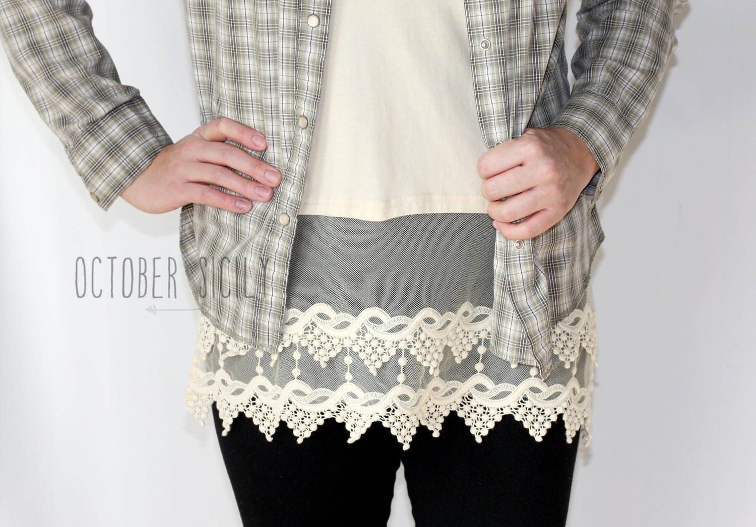 Image of Lace Top Extender, 6 Colors S-3XL *Style 1*