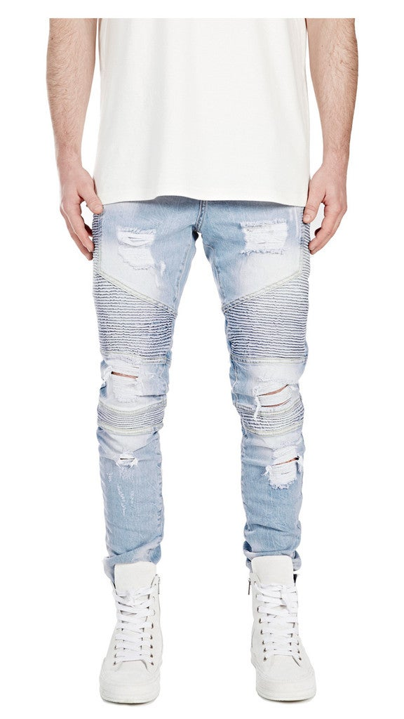 Image of BIKER DENIM BLUE