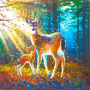 Image of Deer Spirit Energy Painting - Giclee Print