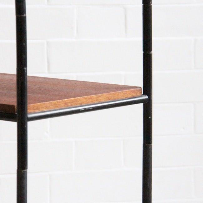 Image of Freestanding teak shelving