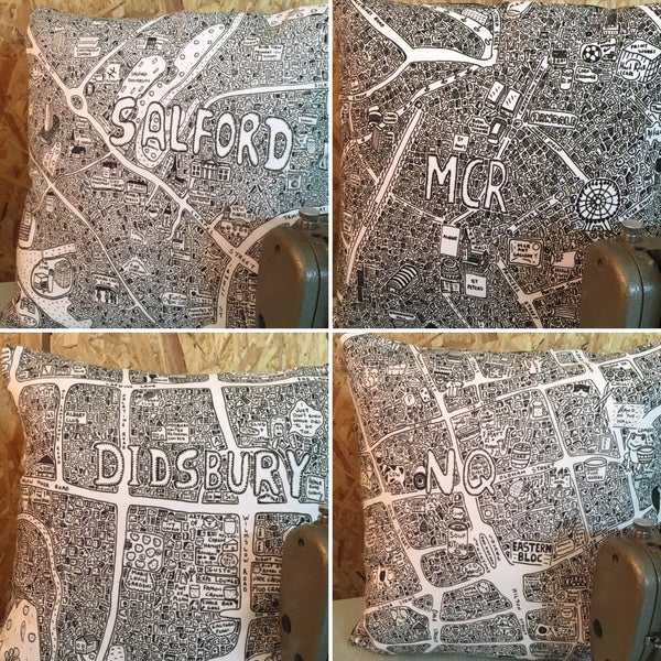 Image of Doodle Map Cushions