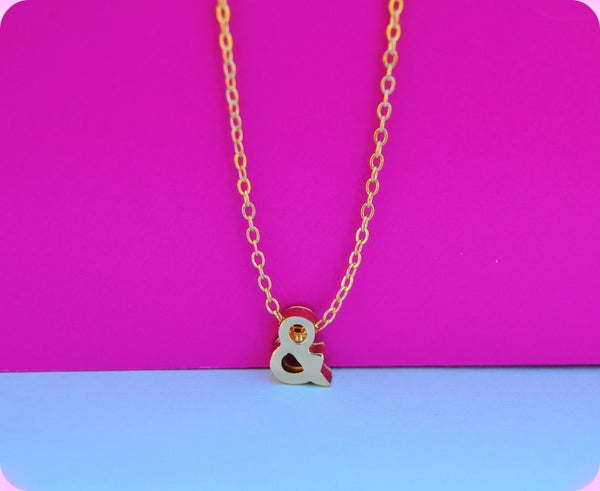 Image of FLASH SALE $5.00 1 Letter Chain Necklace in GOLD