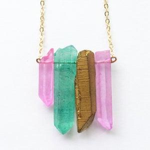 Image of Sherbet Necklace - quartz crystal BACK SOON