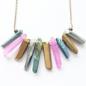 Image of Stardust Necklace - with quartz crystal