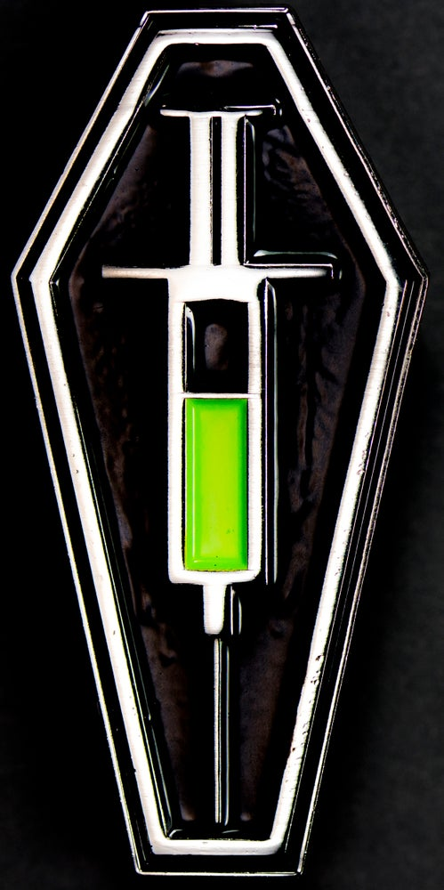 Image of Re-Animator Coffin Pin