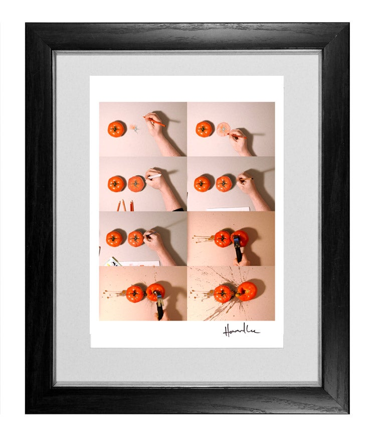 Image of Tomato Speed Drawing Signed Print