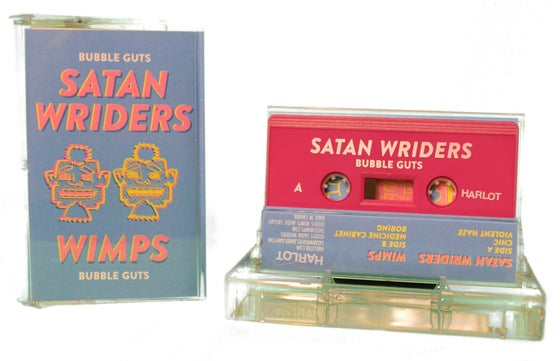 "Image of Wimps / Satan Wriders - ""Bubble Guts"""
