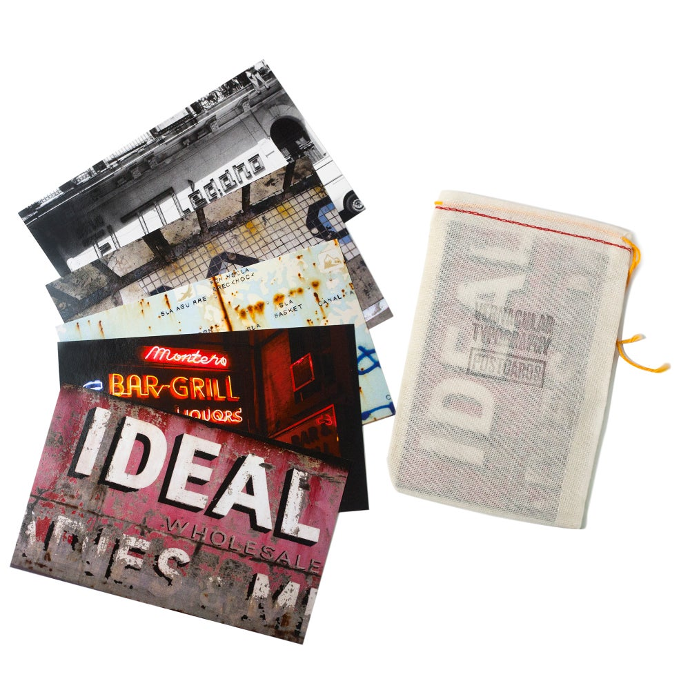 Image of Vernacular Typography Postcard Set