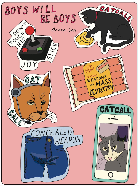 "Image of ""Boys Will Be Boys"" Sticker Sheet"