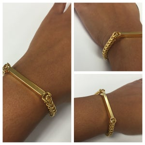 Image of Bar Chain bracelet WITHOUT engraving