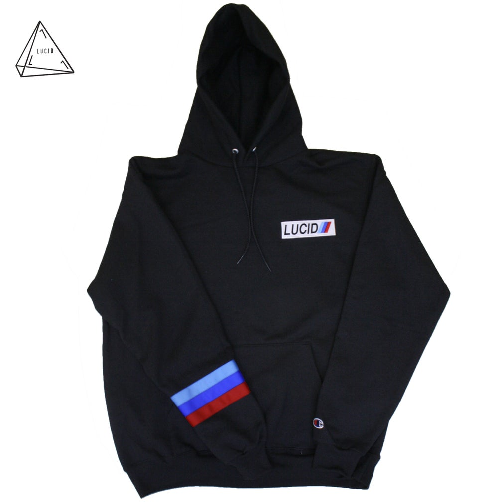 Image of L POWER HOODIE - BLACK