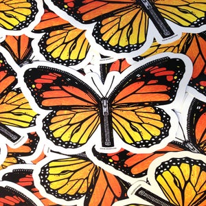 Image of Zipper Butterfly Die Cut Vinyl Sticker