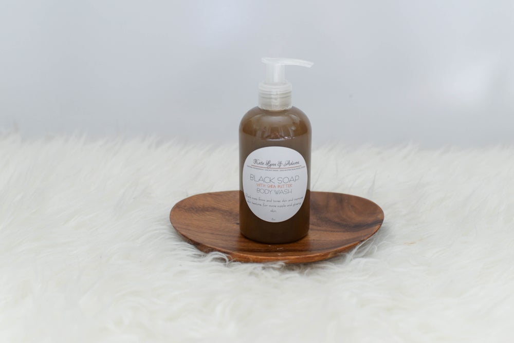 Image of Kate Lynn & Adwoa Black Soap with Shea Butter Body Wash 8oz