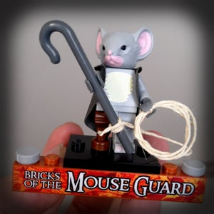 Image of Conrad Custom Minifigure from Mouse Guard