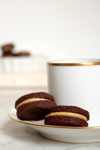 Image of Dark Chocolate & Peanut Butter Cream Cookies
