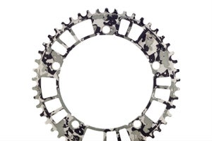 Image of 7075 - aarn - aamerica b&w edition - 144#49 Track Chainring (144BCD//49-Tooth) - Limited to 20 PCS