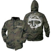 Image of INTEGRITY Logo Camo Hooded Windbreaker