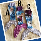 Image of Frozen Sisters Mermaid Doll Blanket ABC